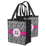 Zebra Print Grocery Bag (Personalized)