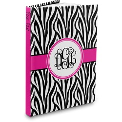 Zebra Print Hardbound Journal (Personalized)