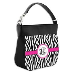 Zebra Print Hobo Purse w/ Genuine Leather Trim (Personalized)