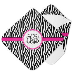 Zebra Print Hooded Baby Towel (Personalized)