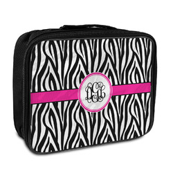 Zebra Print Insulated Lunch Bag (Personalized)