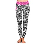 Zebra Print Ladies Leggings (Personalized)