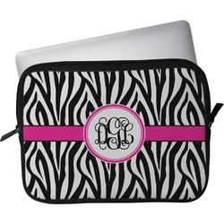 "Zebra Print Laptop Sleeve / Case - 13"" (Personalized)"