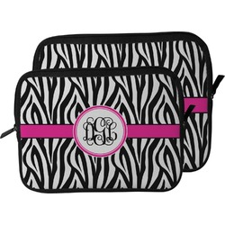 Zebra Print Laptop Sleeve / Case (Personalized)