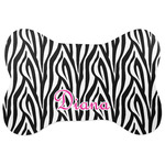 Zebra Print Bone Shaped Dog Food Mat (Personalized)