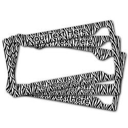 Zebra Print License Plate Frame (Personalized)