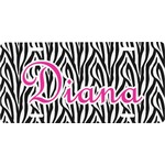 Zebra Print Front License Plate (Personalized)