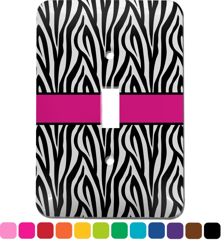 Zebra Print Light Switch Cover Single Toggle