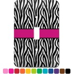 Zebra Print Light Switch Cover (Single Toggle) (Personalized)