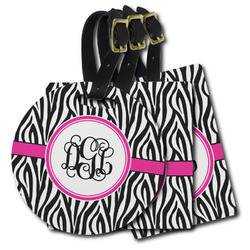Zebra Print Plastic Luggage Tags (Personalized)