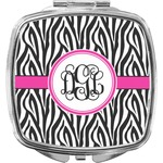 Zebra Print Compact Makeup Mirror (Personalized)