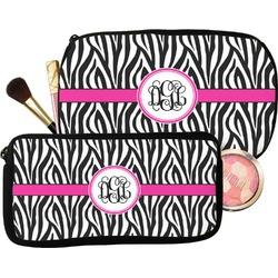 Zebra Print Makeup / Cosmetic Bag (Personalized)