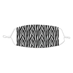 Zebra Print Kid's Cloth Face Mask (Personalized)
