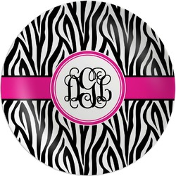 Zebra Print Melamine Plate (Personalized)