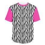 Zebra Print Men's Crew T-Shirt (Personalized)