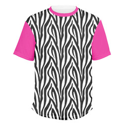 Zebra Print Men's Crew T-Shirt (Personalized)