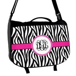 Zebra Print Messenger Bag (Personalized)