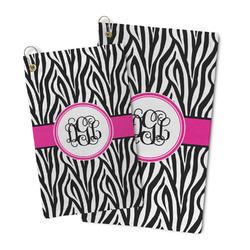 Zebra Print Microfiber Golf Towel (Personalized)