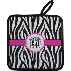 Zebra Print Pot Holder (Personalized)