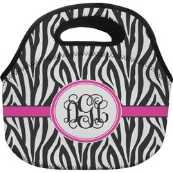 Zebra Print Lunch Bag (Personalized)