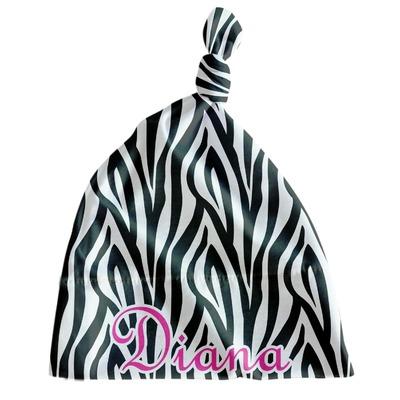 Zebra Print Newborn Hat - Knotted (Personalized)