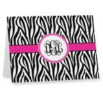 Zebra Print Note cards (Personalized)