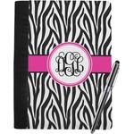 Zebra Print Notebook Padfolio (Personalized)