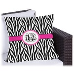 Zebra Print Outdoor Pillow (Personalized)