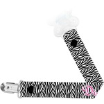 Zebra Print Pacifier Clips (Personalized)