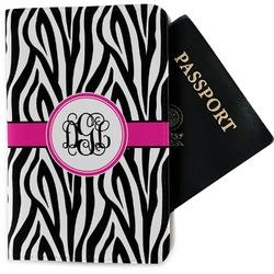 Zebra Print Passport Holder - Fabric (Personalized)