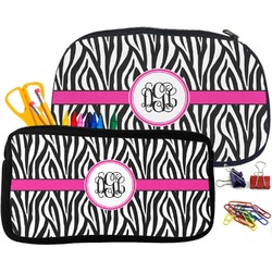 Zebra Print Pencil / School Supplies Bag (Personalized)