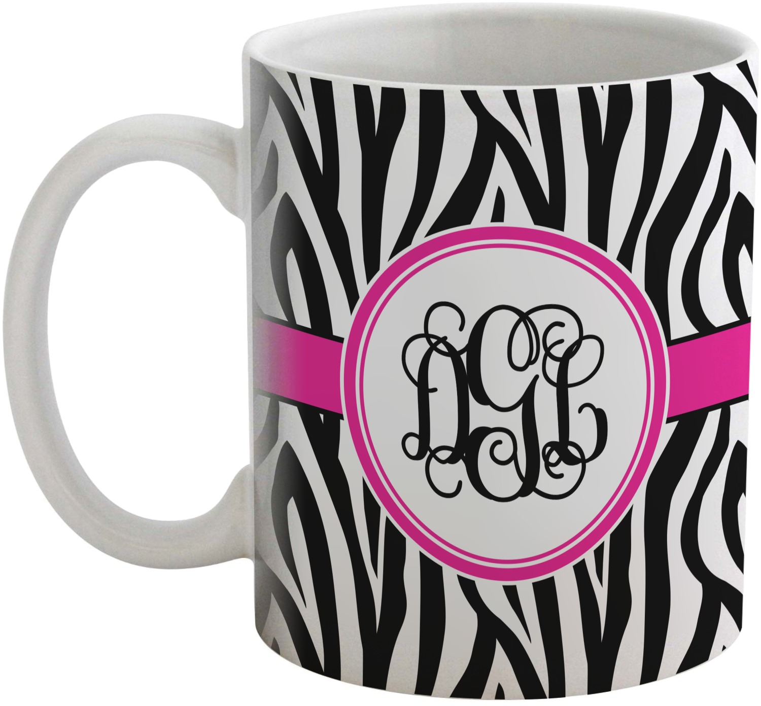 zebra print coffee mug personalized