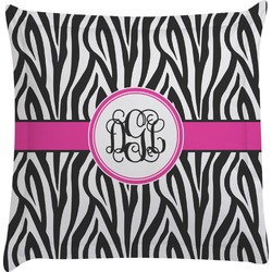Zebra Print Euro Sham Pillow Case (Personalized)