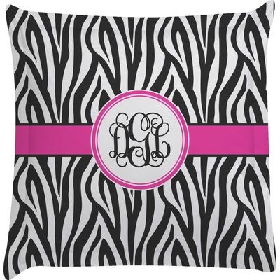 Animal Print Euro Pillow Shams : Zebra Print Euro Sham Pillow Case (Personalized) - YouCustomizeIt