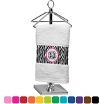 Zebra Print Finger Tip Towel (Personalized)