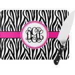 Zebra Print Rectangular Glass Cutting Board (Personalized)