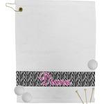 Zebra Print Golf Towel (Personalized)