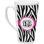 Zebra Print Latte Mug (Personalized)