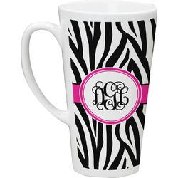 Zebra Print 16 Oz Latte Mug (Personalized)