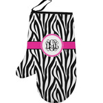 Zebra Print Left Oven Mitt (Personalized)