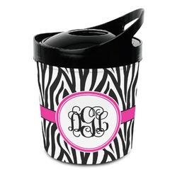 Zebra Print Plastic Ice Bucket (Personalized)