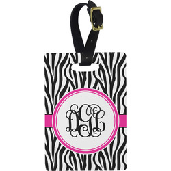 Zebra Print Rectangular Luggage Tag (Personalized)