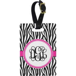 Zebra Print Rectangular Luggage Tag (Personalized)