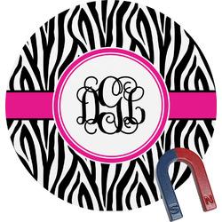 Zebra Print Round Magnet (Personalized)