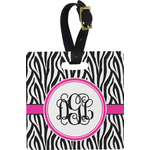 Zebra Print Square Luggage Tag (Personalized)