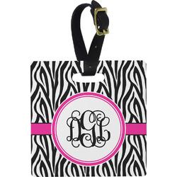 Zebra Print Square Luggage Tag (Personalized)