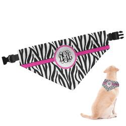 Zebra Print Dog Bandana (Personalized)