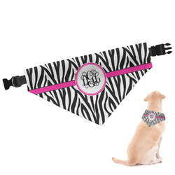 Zebra Print Dog Bandana (Personalized)