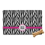 Zebra Print Pet Bowl Mat (Personalized)