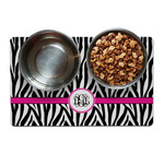 Zebra Print Dog Food Mat (Personalized)